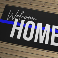 Thin Line - Door Mat - Welcome Home 1