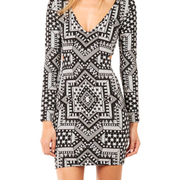 Mara Hoffman Deep V Side Cut Out Dress