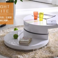 Glossy Rotatable Round Coffee Table
