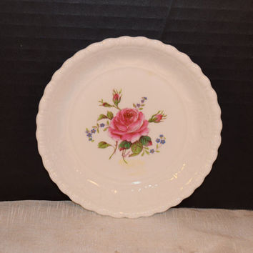 Coalport Birbeck Rose Bread Butter Plate Vintage Coalport Pink Rose Pin Dish Fine Bone China Collectable Replacements Made in England