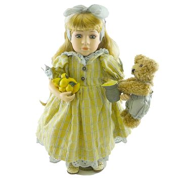 Boyds Bears Resin ERIN LEMONADE FOR TWO Polyresin Limited Edition Doll 4915