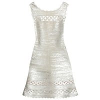 Dominica metallic bandage dress