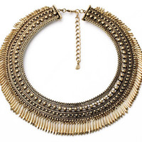 Persian Goddess Fringe Collar