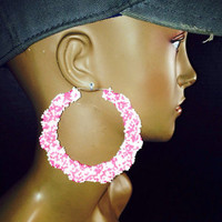 NEW Candy Sprinkle Bamboo Earrings Bubble Gum Buy 1 Get 1 Free & Free Shipping