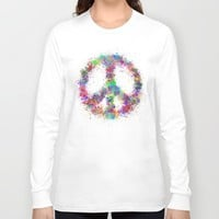 Peace Long Sleeve T-shirt by Miss L In Art