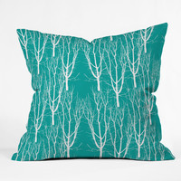 Karen Harris Citrus 2 What Forest Throw Pillow