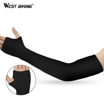 WEST BIKING Cycling Arm Sleeve UV Sun Protectopm Arm Warmers Cuff Sleeves Bike Summer Running Sport Armwarmer Arm Cover