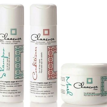 Chaacoca Argan Oil Daily Moisturizing Shampoo Conditioner and Hair Mask
