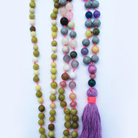 Mantra Mala Tassel Necklace