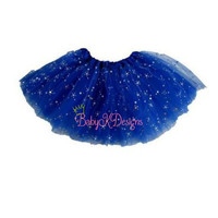 Ready to Ship Royal Blue Sparkle Frilly Tutu Twirl Christmas Skirt | Dress Up Ruffle Skirt Baby Toddler Girl Birthday | Santa Pictures | Elf