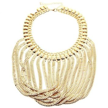 Exaggerated Multilevel Statement Necklaces