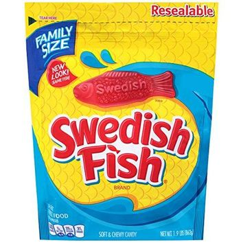 Swedish Fish Soft & Chewy Candy, Original, 1.9 Pound