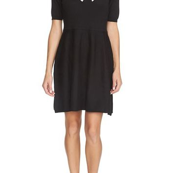 CeCe by Cynthia Steffe Intarsia Bow A-Line Knit Dress | Nordstrom
