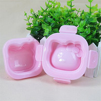 HAKSEN 1pcs Set Pink Kitty Bento Lunch Box Sushi Rice Cutter Mold
