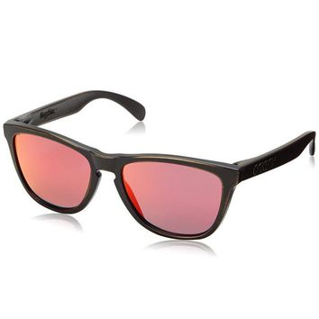 One-nice™ Oakley Frogskins Fall Out Sunglasses Brown Decay Frame Ruby Iridium Lens 24-414