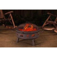 "Sunjoy Country Cabin 32"" Steel Fire Pit"