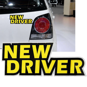 Rookie Student New Novice Driver Removable Car Window Sticker Decal Safety Sign