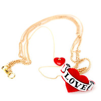 [202FACTORY]plastic heart necklace