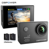 DBPOWER EX5000 Wifi Action Camera Sport Cam 2.0 inch 1080p 1920*1080/30fps Waterproof 30m with 2 Extra Batteries Go SJ5000 pro