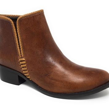 Matisse Merge Brown Leather Ankle Booties