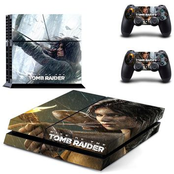 TOMB RAIDER PS4 Designer Skin for Sony PlayStation 4 Console System plus Two(2) Decals for PS4 Dualshock Controller