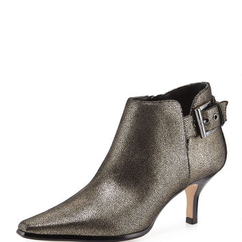Lure Metallic Ankle Bootie, Black Pewter - Donald J Pliner