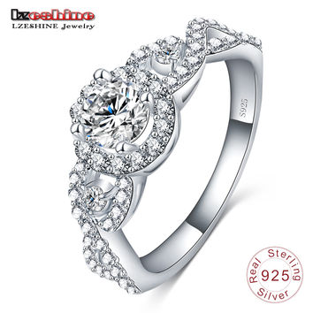 New Collection 925 Sterling Silver Brilliant Stackable Ring  Clear CZ Ring Fine Jewelry Anillos