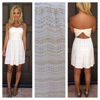 Creme De La Creme Strapless Dress