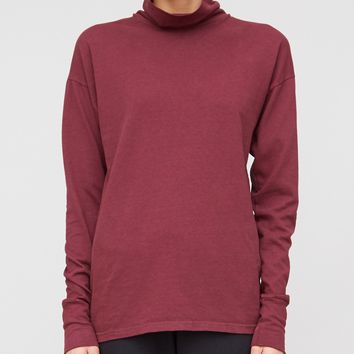 Drop Shoulder Turtleneck in Plum