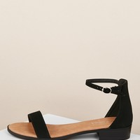 Ankle Strap Low Stacked Heel Sandals