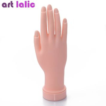 1Pcs Flexible Soft Plastic Flectional Mannequin Model Painting Practice Tool Nail Art Fake Hand for Training Nail Salon