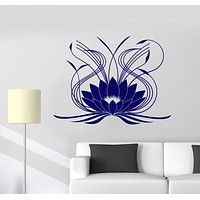 Vinyl Wall Decal Lotus Flower Ornament Floral Stickers Mural Unique Gift (644ig)
