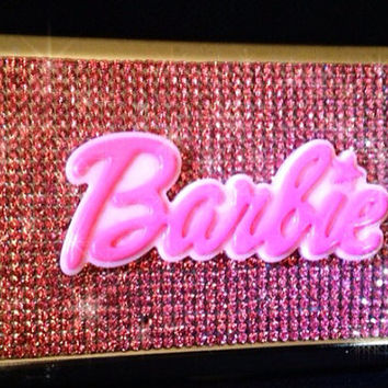 Pink Genuine Swarovski Crystal Bling Cigarette Case (Fits 100's)