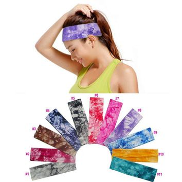 Tie Dye Elastic Stretch Yoga Sports Headband