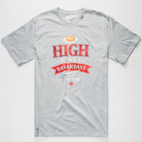 Lrg High Since Breakfast Mens T-Shirt Heather  In Sizes