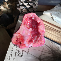 Ruby Red Aura Geode