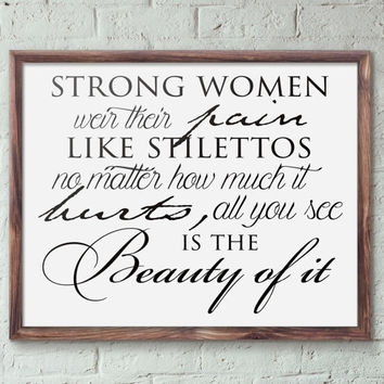 Strong women Printable Wall Art home decor inspirational poster quote print INSTANT DOWNLOAD