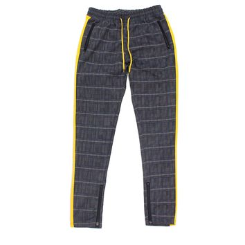 Karter Plaid Track Pants (Yellow)