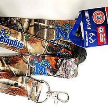 Memphis Tigers CAMO RR Deluxe 2-sided Lanyard Breakaway Keychain University of