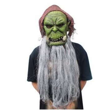 Orcs Guldan Masks Game Movie Cosplay Adult Scary Latex Mask for Halloween Costume Party