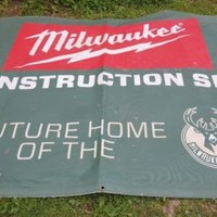 "Milwaukee Tools Milwaukee Bucks Construction Site Nylon Banner 95"" x 73"""