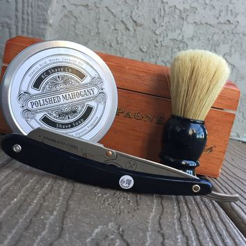 Dominic - The Ultimate Groomsmen Straight Razor Kit with Brush and Shave Soap