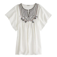 J.Crew Womens Embroidered Tassel Beach Tunic