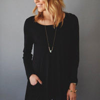 Valley Fern Tunic Black