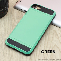 Green Wallet Phone Case For iPhone 7 7Plus 6 6s Plus 5 5s SE