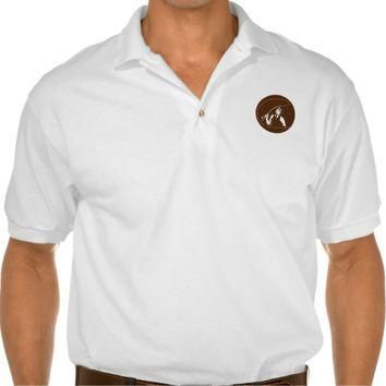 Mobster Gangster Fly Fisherman Circle Retro Polo Shirt