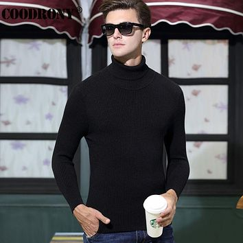 Winter Thick Warm Christmas Sweater Men Dress Wool Sweaters Casual Turtleneck Pullover Cashmere Knitwear