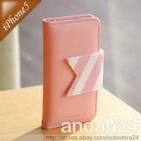 HAPPYMORI/Reason Ave(Pink) iPhone 5, 4S, 4 wallet Korean cute leather case cover