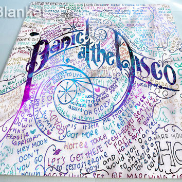 Panic At The Disco Lyrics Art for Custom Blankets Cover