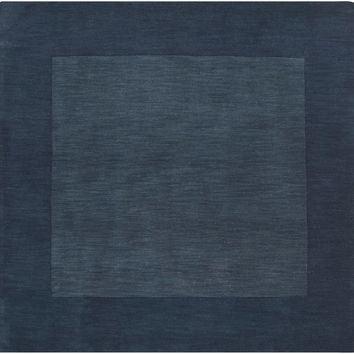 Surya Mystique M309 Blue/Black Solids and Borders Area Rug